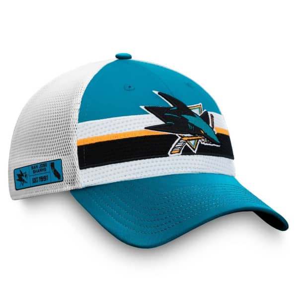 San Jose Sharks 2020 NHL Draft Authentic Pro Fanatics Snapback Trucker Cap