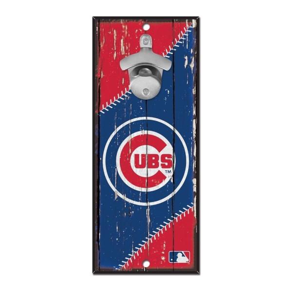 Chicago Cubs MLB Schild mit Flaschenöffner