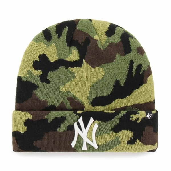 New York Yankees Grove Woodland Camo MLB Beanie Wintermütze
