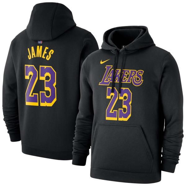 LeBron James #23 Los Angeles Lakers Player NBA Sweatshirt Hoodie Schwarz