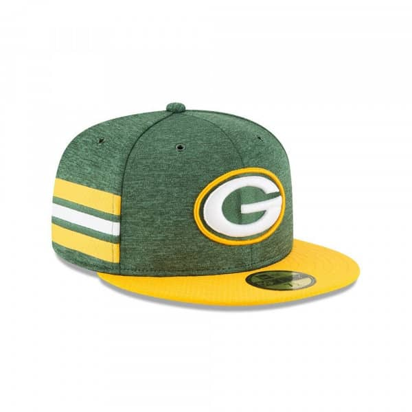Green Bay Packers 2018 NFL Sideline 59FIFTY Fitted Cap Home