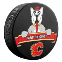 Calgary Flames Harvey The Hound Mascot NHL Souvenir Puck