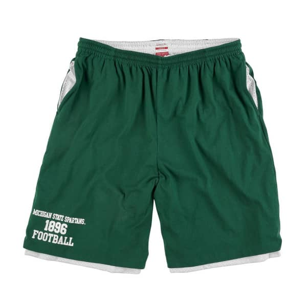 Michigan State Spartans Mitchell & Ness Reversible Jersey Mesh NCAA Shorts