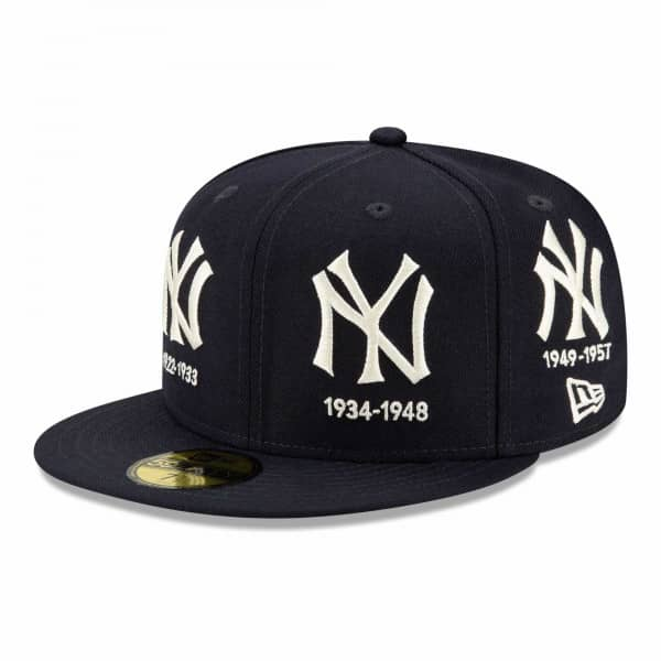 New York Yankees Cooperstown Logo Progression New Era 59FIFTY Fitted MLB Cap