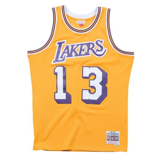 3c10eb46eb78 Mitchell   Ness Wilt Chamberlain  13 Los Angeles Lakers 1971-72 Swingman  NBA Jersey Yellow
