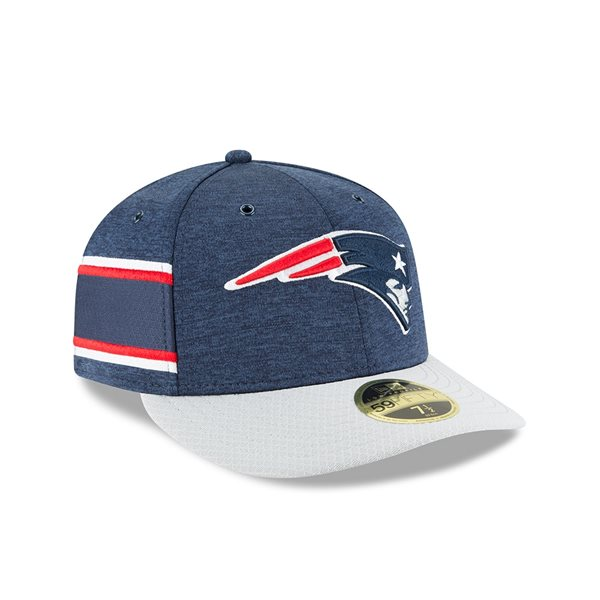 2bac4f268d3 New Era New England Patriots 2018 NFL Sideline Low Profile 59FIFTY ...
