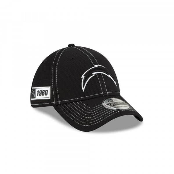 Los Angeles Chargers 2019 NFL Sideline Black 39THIRTY Stretch Cap Road