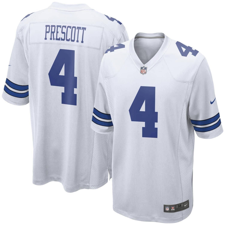 Nike Dak Prescott  4 Dallas Cowboys Game Football NFL Jersey White ... 1c4a209b6