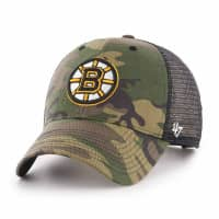 Boston Bruins Camo NHL Trucker Cap