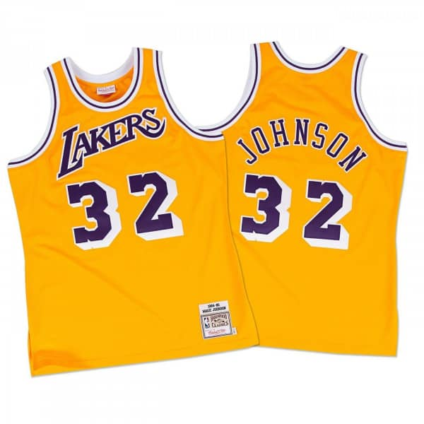 Mitchell   Ness Magic Johnson Los Angeles Lakers 1984-85 Authentic NBA  Jersey  7b94a7ab6