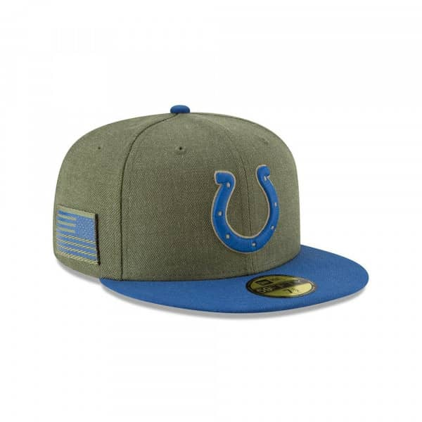 Indianapolis Colts 2018 Salute to Service 59FIFTY NFL Cap
