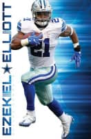 Dallas Cowboys Ezekiel Elliott Superstar NFL Poster