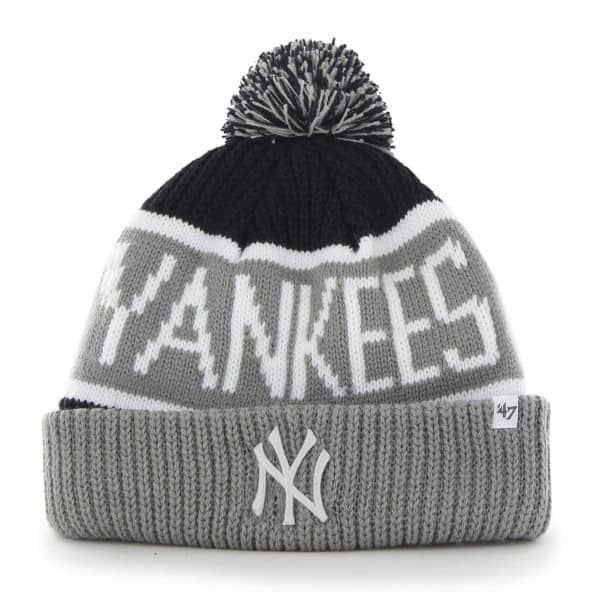 New York Yankees Wraparound MLB Pudelmütze Grau