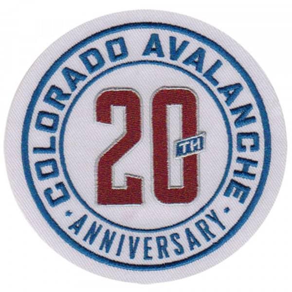 Colorado Avalanche 20th Anniversary NHL Eishockey Patch / Aufnäher