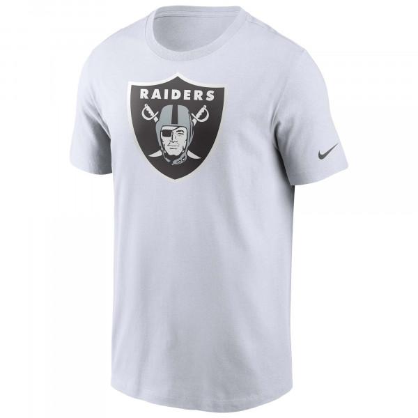 Las Vegas Raiders Nike Essential Logo NFL T-Shirt Weiß