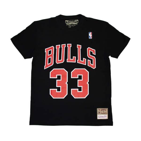Scottie Pippen #33 Chicago Bulls Mitchell & Ness Name & Number NBA T-Shirt Schwarz