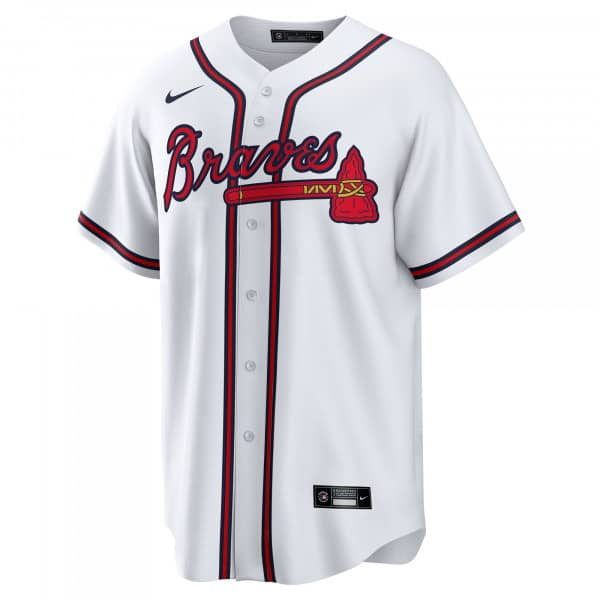 Atlanta Braves 2020 Nike MLB Replica Home Trikot Weiß