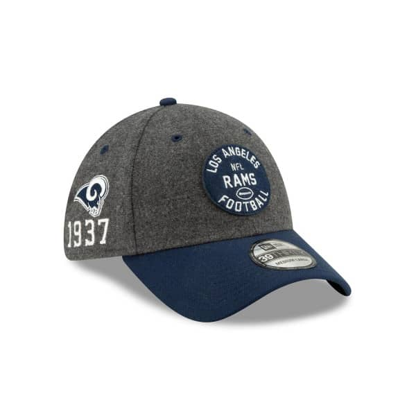 Los Angeles Rams 2019 NFL On-Field Sideline 39THIRTY Stretch Cap Home