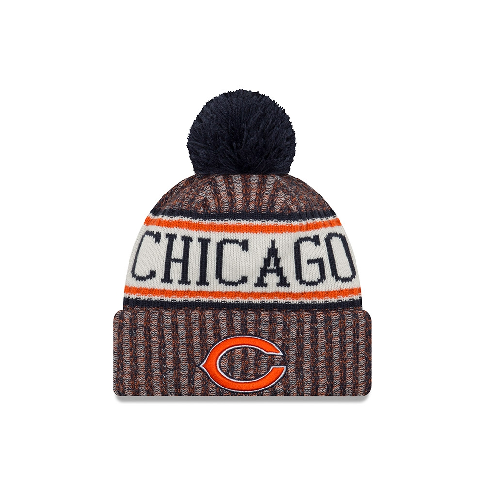 6176b254b New Era Chicago Bears 2018 Sideline Sport Knit NFL Knit Hat