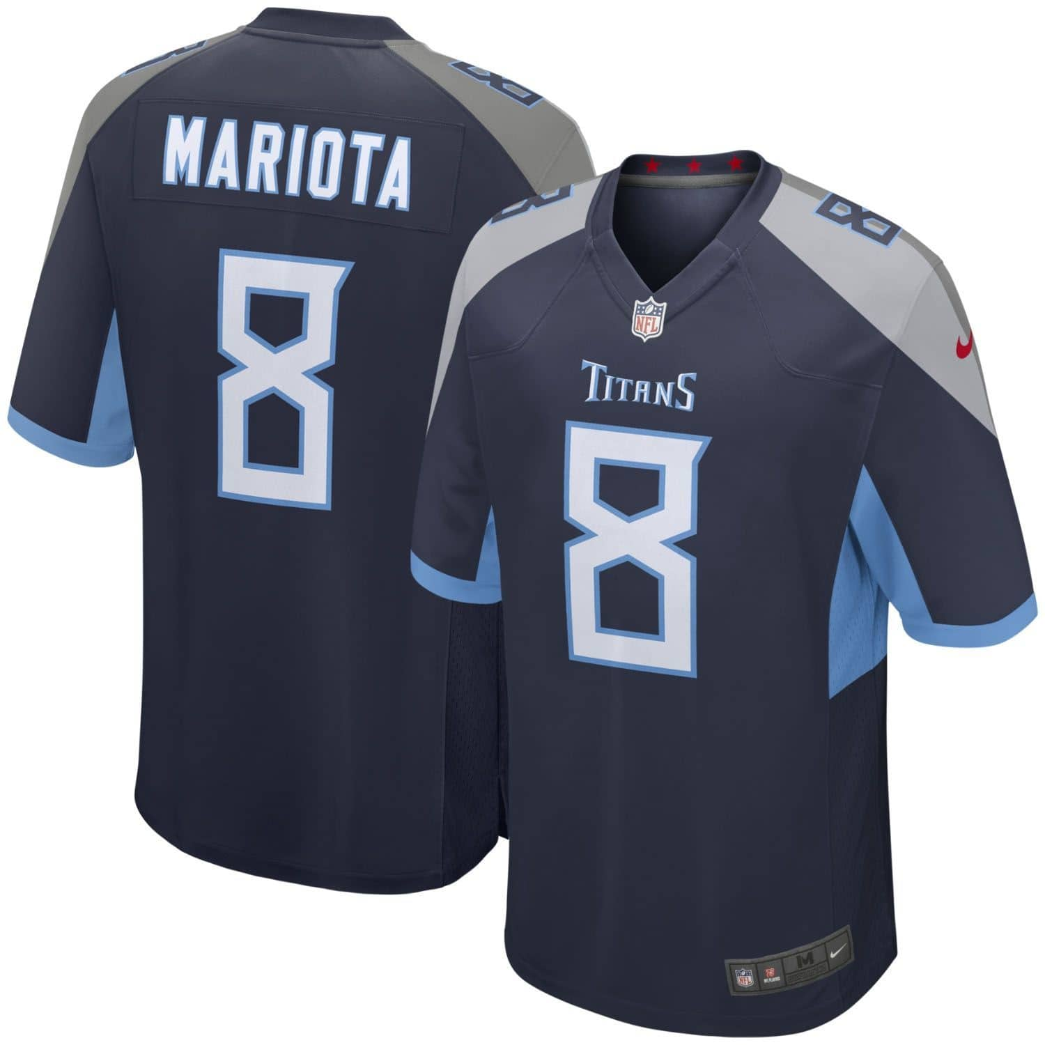 Nike Marcus Mariota  8 Tennessee Titans Game Football NFL Jersey Navy  866d5ed4d