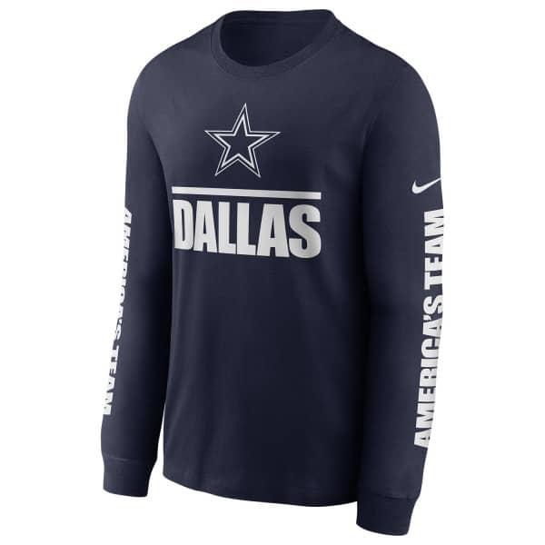 Dallas Cowboys Split Local Nike Long Sleeve Shirt Navy