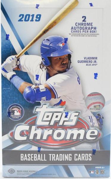 2019 Topps Chrome Baseball Hobby Box MLB