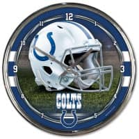 Indianapolis Colts Chrome NFL Wanduhr
