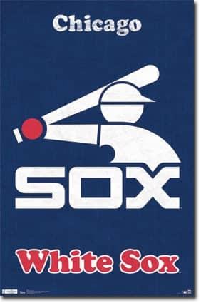 Chicago White Sox Retro Team Logo Baseball MLB Poster RP1383