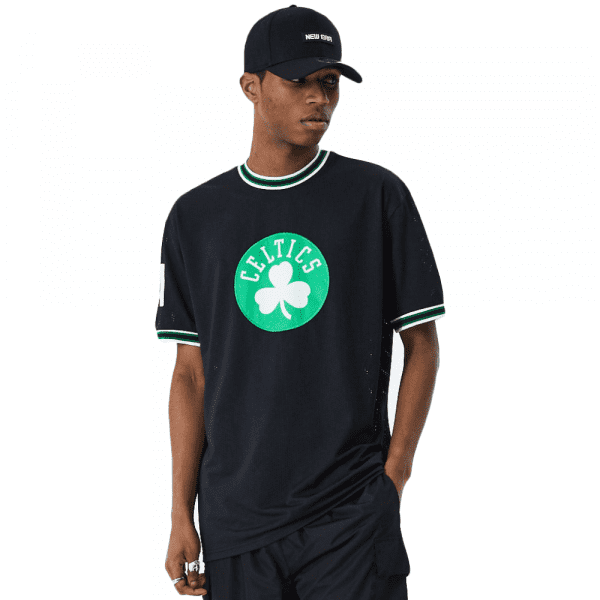 Boston Celtics Applique Oversized New Era Mesh NBA Fantrikot