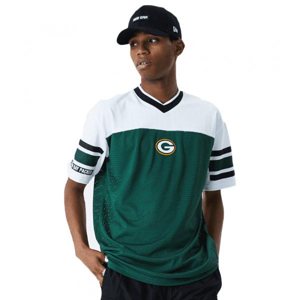 Green Bay Packers New Era Jacquard Oversized Mesh NFL Fantrikot