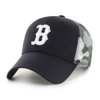 Boston Red Sox White Camo Back Switch '47 MVP MLB Trucker Cap