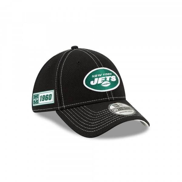 New York Jets 2019 NFL On-Field Sideline 39THIRTY Stretch Cap Road Alternate