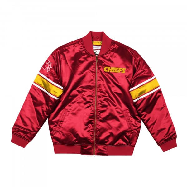 Kansas City Chiefs Mitchell & Ness Heavyweight Satin NFL Jacke