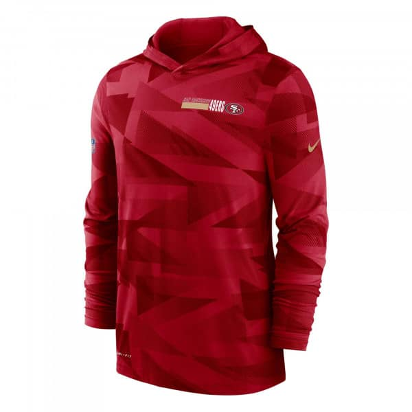 San Francisco 49ers 2020 NFL Sideline Long Sleeve Nike Lightweight Hoodie