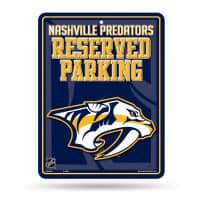 Nashville Predators Reserved Parking NHL Metallschild