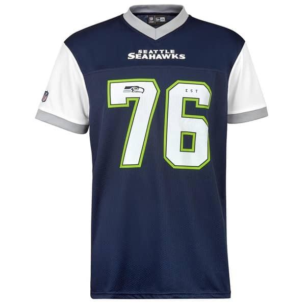 Nice New Era Seattle Seahawks #76 Tri Colour NFL Fan Jersey |