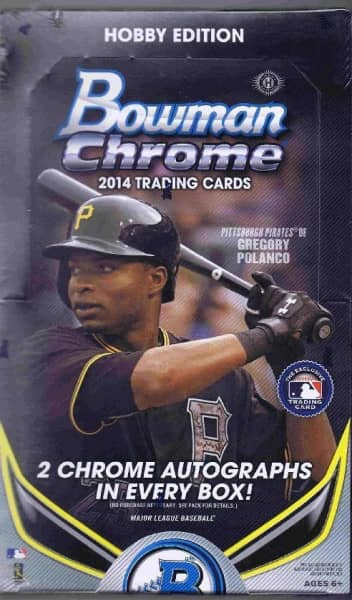 2014 Bowman Chrome Baseball Hobby Box MLB