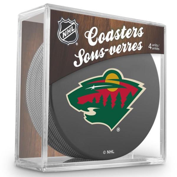 Minnesota Wild NHL Eishockey Puck Untersetzer (4er Set)