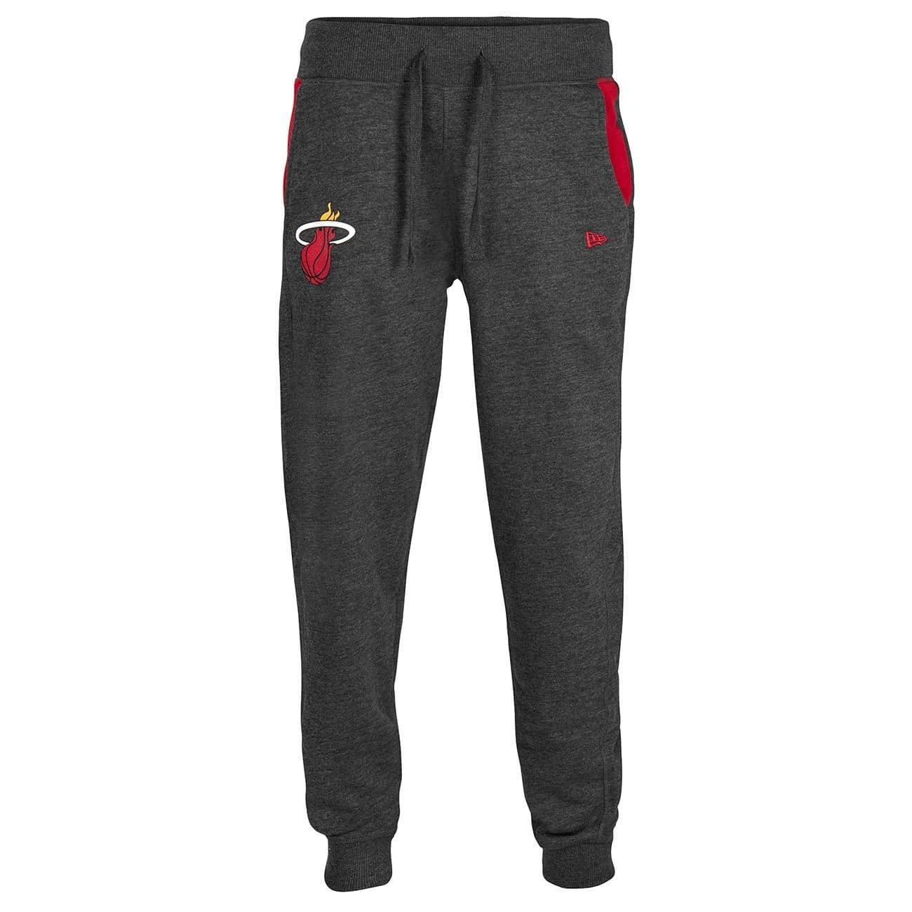 49a7e0e5089c52 New Era Miami Heat Tip Off NBA Sweatpants Charcoal | TAASS.com Fan Shop
