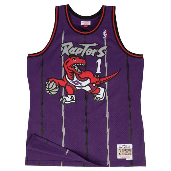 Tracy McGrady #1 Toronto Raptors 1998-99 Mitchell & Ness Swingman NBA Trikot Lila