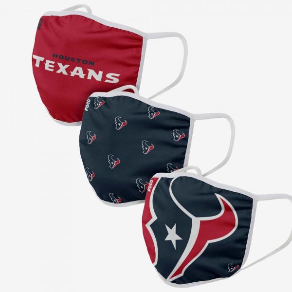Houston Texans NFL Face Mask Mundschutz MNS (3er-Pack)