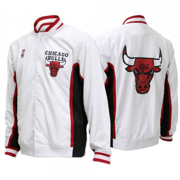 cceb3f94f3c Mitchell   Ness Chicago Bulls 1992-1993 Authentic Warm Up Jacket White