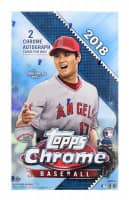 2018 Topps Chrome Baseball Hobby Box MLB