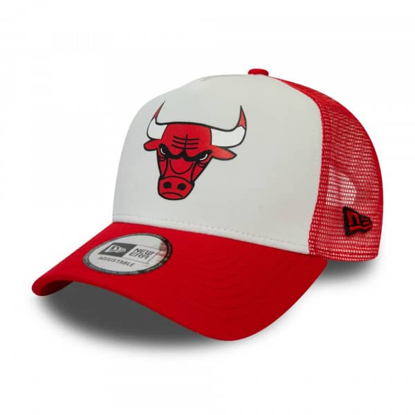 Chicago Bulls Colour Block New Era Trucker NBA Cap