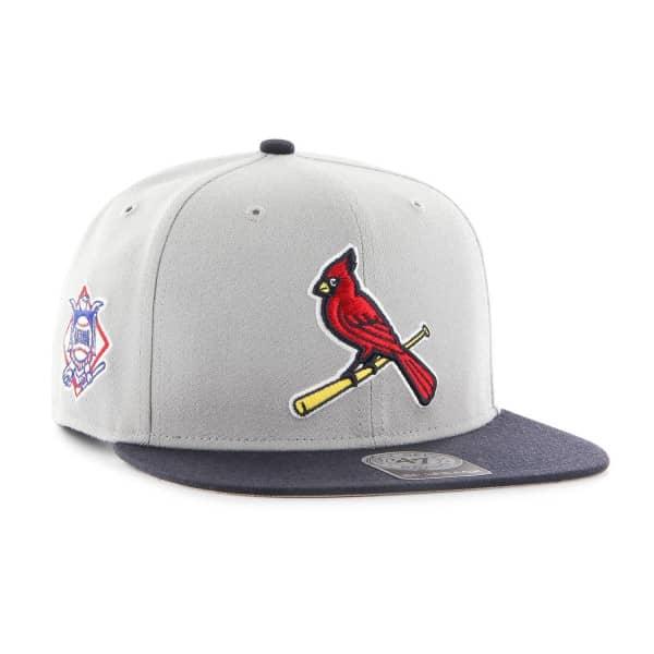 St. Louis Cardinals Two-Tone Sure Shot '47 Captain Snapback MLB Cap Grau