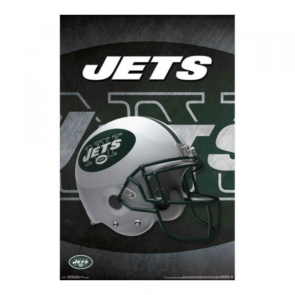 New York Jets Helmet Football NFL Poster