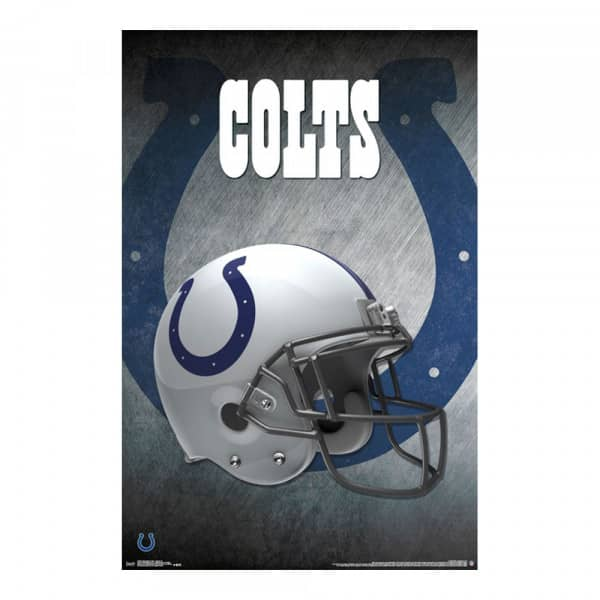 Indianapolis Colts Helmet Football NFL Poster