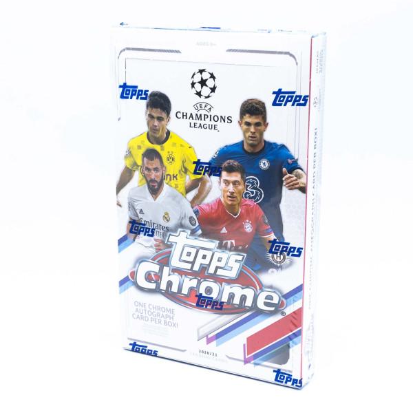 2020/21 Topps Chrome UEFA Champions League Soccer (Fussball) Hobby Box