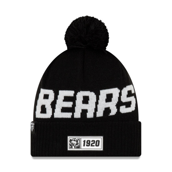Chicago Bears Black Throwback 2019 NFL Sideline Sport Knit Wintermütze Road