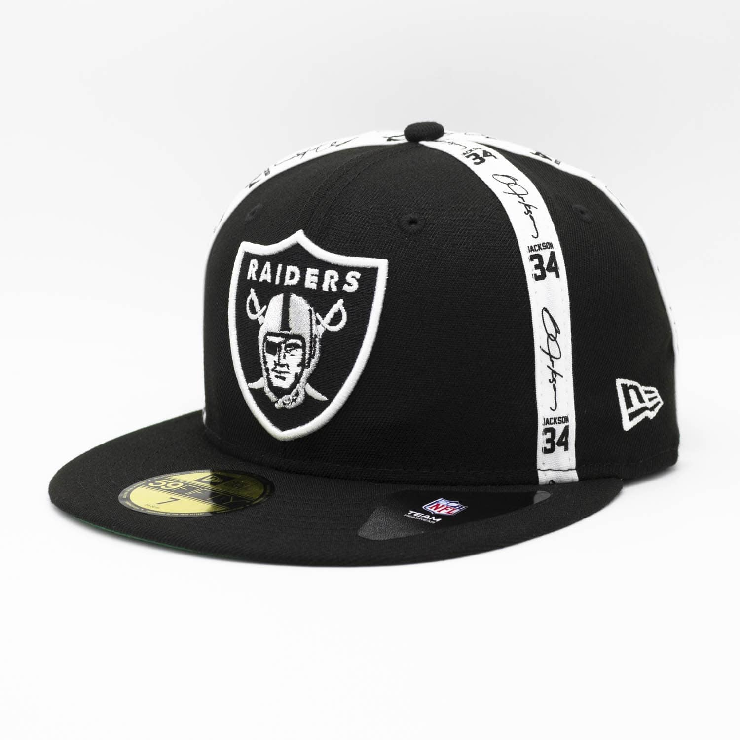 c0f18031 Bo Jackson Reverse Script Oakland Raiders 59FIFTY Fitted NFL Cap